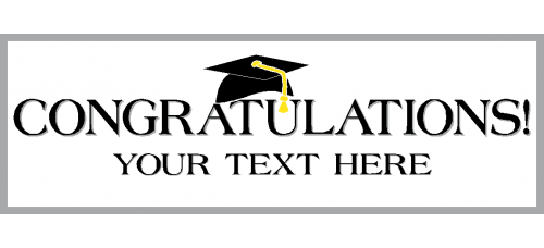 Banner - Congratulations Grad Option A