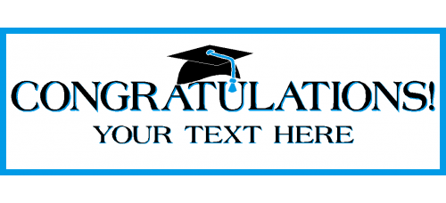 Banner - Congratulations Grad Option B