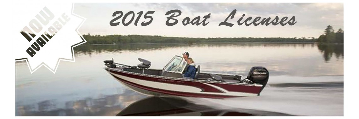 2015 Boat Licenses Now Available